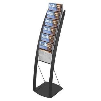 Deflect O Contemporary Floor Display Stand Amp Reviews Wayfair
