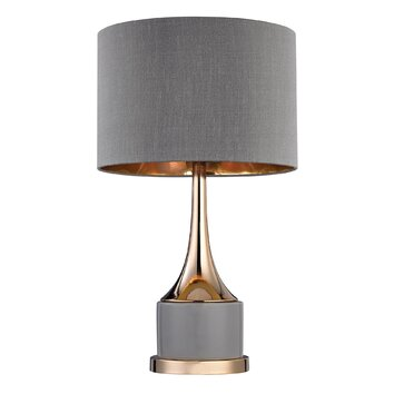small cone neck 19 h table lamp with drum shade reviews way. Black Bedroom Furniture Sets. Home Design Ideas