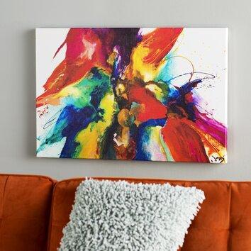 Mercury Row Flourish Painting Print On Wrapped Canvas