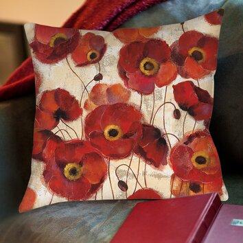 Loudoun Poppies Printed Throw Pillow Wayfair