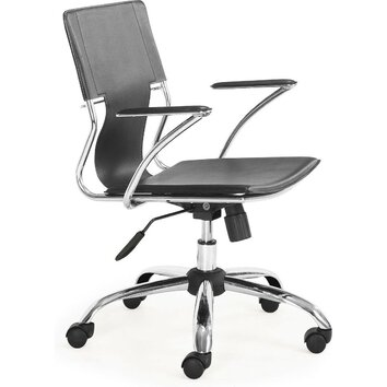 fine mod imports elegant mid back office chair allmodern