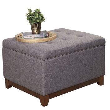 homepop upholstered storage cocktail ottoman reviews wayfair. Black Bedroom Furniture Sets. Home Design Ideas