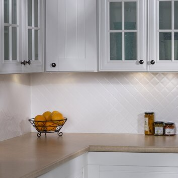 glossy kitchen cabinets fasade quilted 24 25 quot x 18 25 quot pvc backsplash panel in 1251