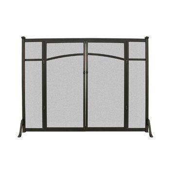 Open Hearth Flat Panel Fireplace Screen With Doors Reviews Wayfair