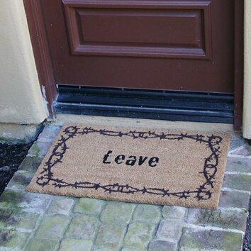 Leave unwelcome doormat wayfair - Doormat that says leave ...