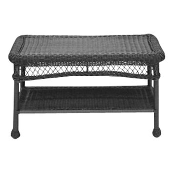Charlton home forthill wicker patio furniture coffee table for Wayfair outdoor coffee table
