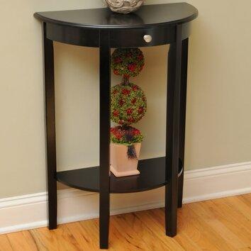 melville half moon console table wayfair. Black Bedroom Furniture Sets. Home Design Ideas