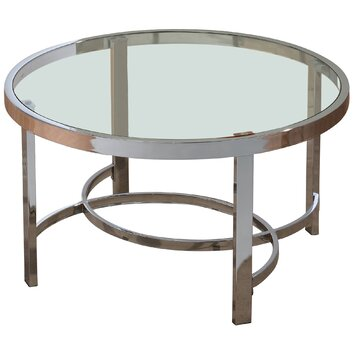 Nspire coffee table reviews wayfair for Wayfair round glass coffee table