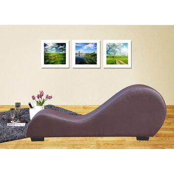 Yoga chaise lounge wayfair for Chaise yoga