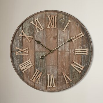 entertainment cabinet 24 quot brick wall clock wayfair ca 15164