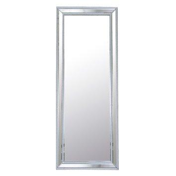 Diamond studded floor mirror