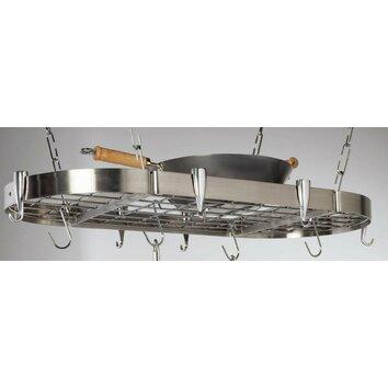 Stainless Steel Oval Pot Rack Wayfair