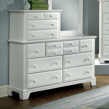 hamilton franklin vanity 10 drawer dresser wayfair. Black Bedroom Furniture Sets. Home Design Ideas