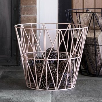 ferm living iron wire basket allmodern. Black Bedroom Furniture Sets. Home Design Ideas