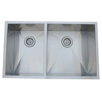 kitchen sink picture 33 quot x 20 06 quot undermount offset bowl kitchen sink 2820