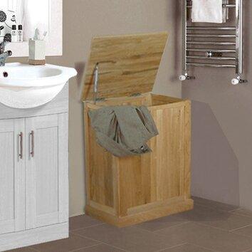 Mobel oak laundry bin wayfair uk - Coffre a linge sale ikea ...