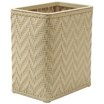 Elegante decorator wicker wastebasket wayfair - Elegant wastebasket ...