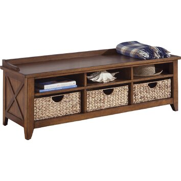 Liberty Furniture Wood Storage Entryway Bench & Reviews