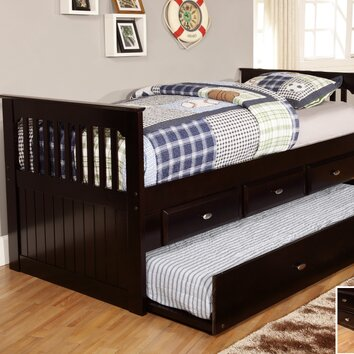 Twin Rake Slat Bed With Trundle Wayfair