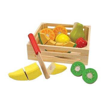 18 Piece Play Food Cutting Fruit Crate Set Wayfair