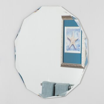 Decor Wonderland Frameless Diamond Wall Mirror Allmodern