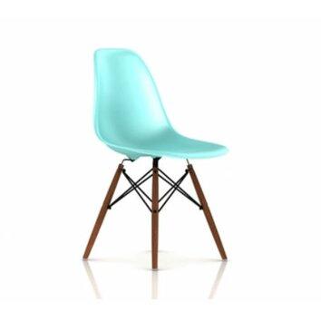 Herman miller eames dsw molded plastic side chair with for Eames molded plastic dowel leg side chair