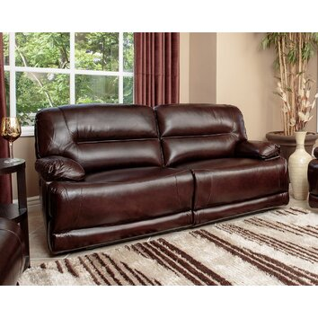 Brownstone leather power reclining sofa wayfair for Abbyson living sedona leather chaise recliner