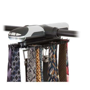 Extra Large Battery Powered Tie And Belt Hanging Organizer