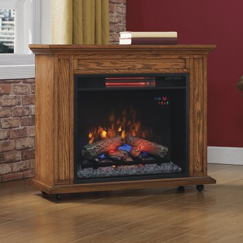 Duraflame Rolling Mantel With Electric Infrared Quartz