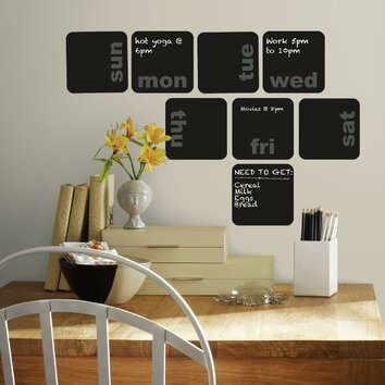 Room Mates Deco Days Of The Week Planner Chalkboard Wall
