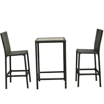 Aosom outsunny 3 piece bistro dining set reviews wayfair for Aosom llc outsunny chaise lounge