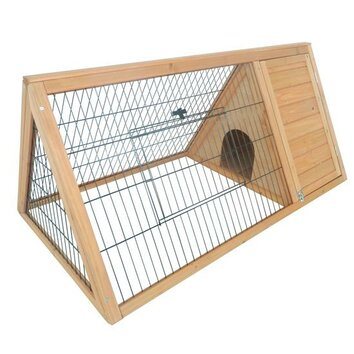 Pawhut outdoor triangular wooden animal hutch house wayfair for Aosom llc outsunny chaise lounge