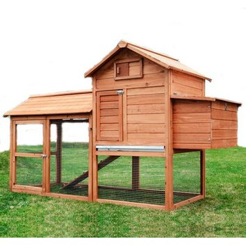 Aosom large pawhut chicken coop with hinged roof and for Aosom llc outsunny chaise lounge