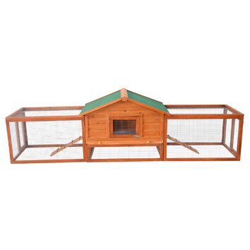 Aosom pawhut 122 deluxe wooden rabbit hutch chicken coop for Aosom llc outsunny chaise lounge