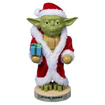 Yoda in santa robe nutcracker wayfair for Chaise yoda
