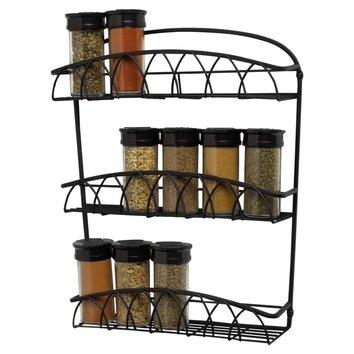 spectrum diversified twist wall mount spice rack reviews wayfair. Black Bedroom Furniture Sets. Home Design Ideas