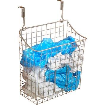spectrum diversified over the cabinet grid trash bag holder reviews wayfair. Black Bedroom Furniture Sets. Home Design Ideas