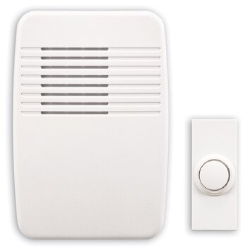 wireless plug in doorbell kit with white molded cover wayfair