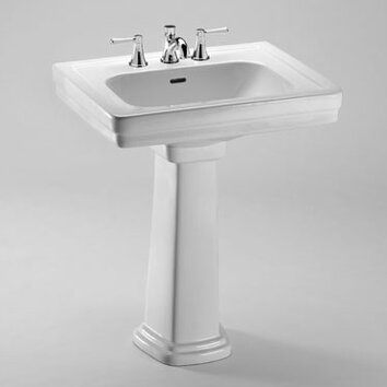 Promenade 27 5 Quot Pedestal Bathroom Sink Wayfair