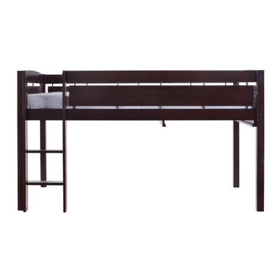 Whistler Junior Twin Bed with Ladder Color: Espresso