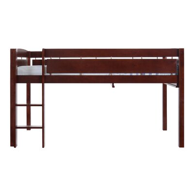 Whistler Junior Twin Bed with Ladder Color: Cherry