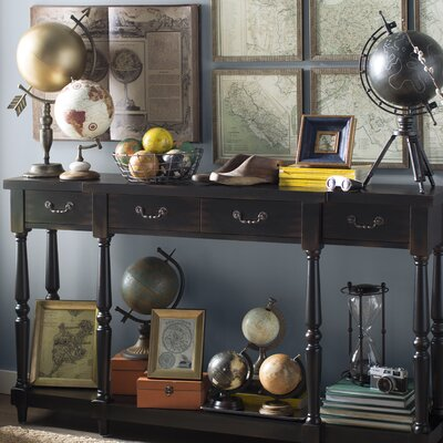 "Port Salerno Console Table Color: Black, Size: 34"" H x 60"" W x 11"" D"