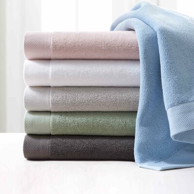 100% Cotton Bath Towel Color: French Gray