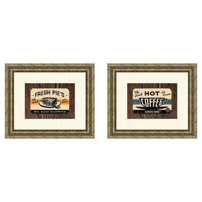 PTM Images Vintage Hot Coffee 2 Piece Framed Vintage Advertisement Set