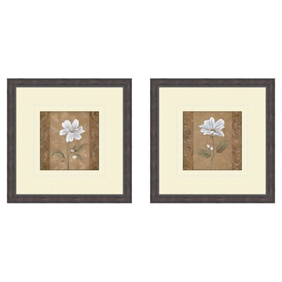 PTM Images Floral Spring Ahead 2 Piece Framed Painting Print Set