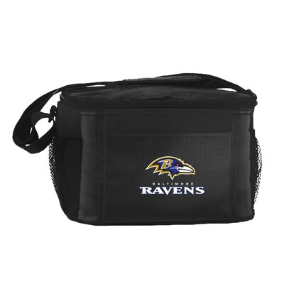 6 Can Lunch Box Cooler NFL Team: Baltimore Ravens