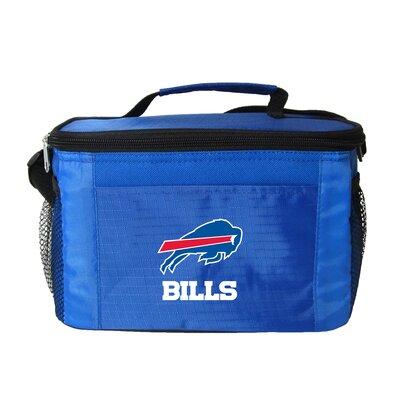 6 Can Lunch Box Cooler NFL Team: Buffalo Bills, Color: Light Blue