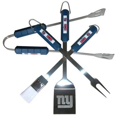 NFL 4 Piece BBQ Grill Tool Set NFL Team: New York Giants
