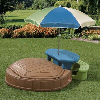 Naturally Playful Summertime Play Center 4.75 Ft. W Octagon Sandbox