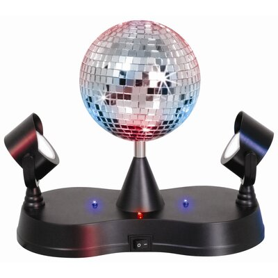 "LumiSource Novelty Lighting Disco Ball 9.5"" H Table Lamp with Globe Shade"
